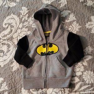 Batman Hoodie Jacket size 12M EUC